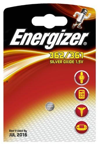 Energizer Piles pour Montre en Oxyde d'Argent 362/361 1,55 V