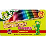 JOLLY 3000-0334 - Supersticks Classic, 36 Farben, Mine, Lernmaterialien, 3.8 mm