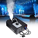 MuGuang 1500 W DMX Machine à fumée verticale avec télécommande 2 l pour Stage Wedding Disco DJ Bar Party Sprüs jusqu'à env. Longueur : 5 m