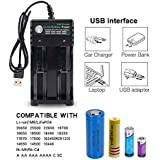 Teepao LCD Display Speedy Universal Battery Charger With Car Adapter, Teepao C4 Smart Charger For Rechargeable Batteries Ni-MH Ni-Cd A AA AAA SC, Li-ion 10440 14500 16340 16650 14650 18350 18500 18650