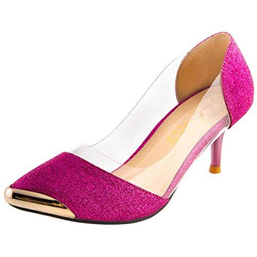 Sandales Fermé Escarpins Talons Rose Cm Bout Couleur Moyen 6 Haute Femme  Rouge Or Wealsex Paillette ... fa4f5fa6ca6c