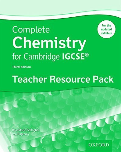 Complete Chemistry for Cambridge IGCSE  Teacher Resource Pack (Third edition) (Complete Science Igcse) by RoseMarie Gallagher (2015-02-12)