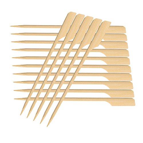 Preisvergleich Produktbild Frifer Kabob Picks Hors '-Vorspeise Bambus Paddel Picks Grillspieße Party Supplies 15, 2 cm / 17, 8 cm / 19, 8 cm / 24, 9 cm (200 Stück),  Bambus,  7'' 200 Pack