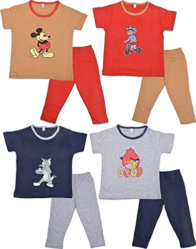 Autumnsplaash Boys' Cotton Outfits & Clothing Set (As-Ws-Rkbm-3_Multi-Coloured_3 - 4 Years)
