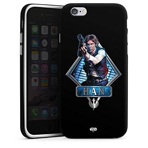 Apple iPhone X Silikon Hülle Case Schutzhülle Star Wars Han Solo Merchandise Silikon Case schwarz / weiß