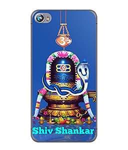FUSON Designer Back Case Cover for Micromax Canvas Fire 4 A107 (Shri Ganesh Shivling Om Lotus Nag Abhishek)