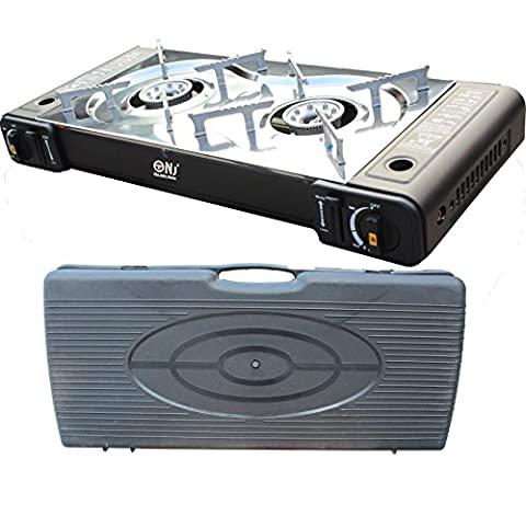 Portable Gas Stove Cooker 2 burners Camping Outdoor BBQ Caravan