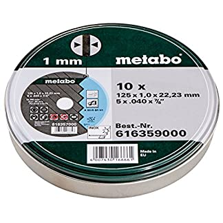 Metabo, Discos de Corte, 125 x 1 mm, 10 unidades