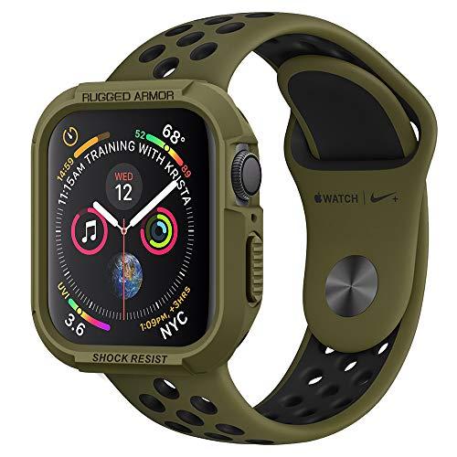 Spigen Apple Watch Hülle, Rugged Armor entworfen für Apple Watch 40mm Series 5 / Series 4 (2018) Case - Olive Green -