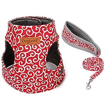 Kismaple Chaton Chats Harnais avec Laisse, Confortable Réglable Doux Mesh Respirant Harnais pour Chat Animal (XS, Rouge)