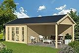 Gartenhaus Hannover 760 x 380 cm Gerätehaus Blockhaus