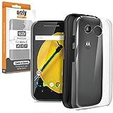 Orzly® InvisiCase for MOTO E 2nd Gen - 100% CLEAR / 100% CLEAR (100% Transparente Color) Funda de Protección Cubierta Shell del Teléfono Móvil para el uso con la segunda generación de Motorola Moto E SmartPhone (2015 Modelo)