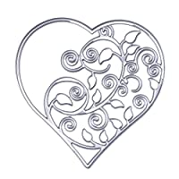 Demiawaking Two Style Love Heart Shaped Cutting Dies Stencil for DIY Scrapbooking Album Card Making Party Decor (01)