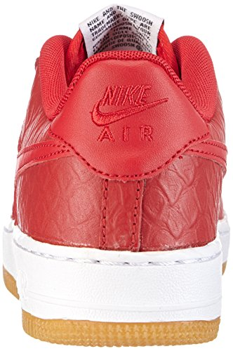 Nike Air Force 1 (gs), Chaussons Sneaker Garçon Rouge (university Red/white)