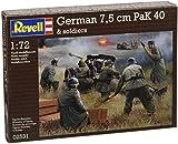 Revell 02531 - Modellbausatz - German Pak 40 mit Soldiers im Maßstab 1:72