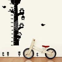 ufengke® Big Tree Cute Owls Monkey Height Chart Decals, Children
