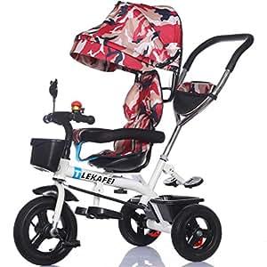 mehrzweck 4 in 1 kind dreirad kid trolley schiebegriff stoller fahrrad mit anti uv markise und. Black Bedroom Furniture Sets. Home Design Ideas