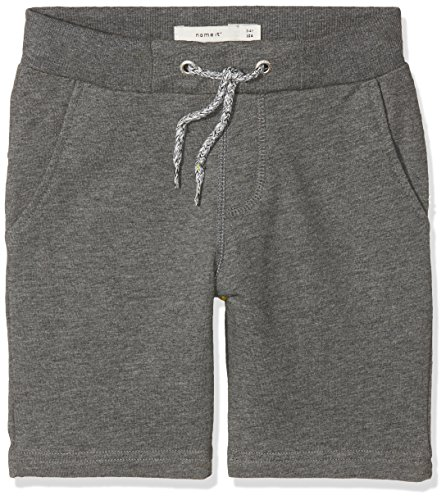 NAME IT Jungen Shorts NKMHONK UNB SWE Long NOOS, Grau Dark Grey Melange, 110