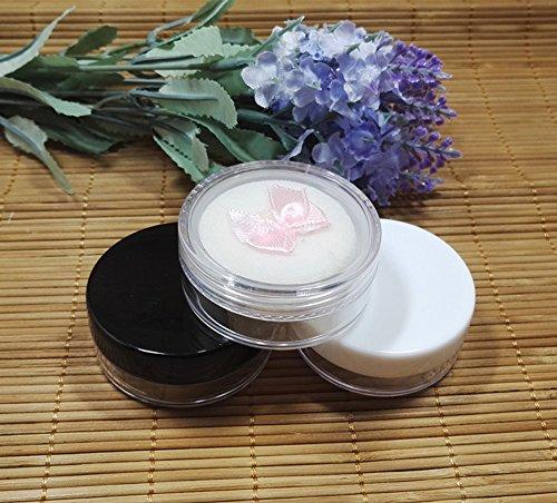 2PCS 5 g vide rechargeable en plastique rond Poudre Puff Boîte Boîte Étui avec tamis et houppette Poudre Maquillage Boîte