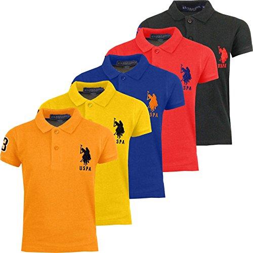 Kids US Polo Assn T Shirt Boys Girls Children PE School Shirt Unisex Age 2-13
