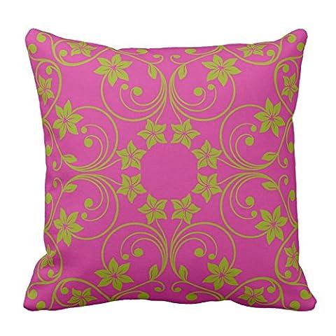 Muster, dark pink und grün Blumen Muster Werfen Kissenbezug Dekorative Kissen Kissenbezug Kollektion, 45,7x 45,7cm