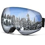 Gafas de esquí Pro–homeme–Gafas de esquí con doble lente antiniebla UV 400para Mujer & Hombre, Silver(VLT18.5%)