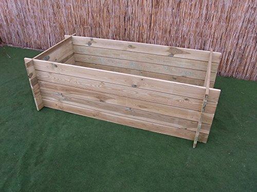 stabiler Holzkomposter Komposter Kompostbehälter Hochbeet 170 x 85 x 52 cm