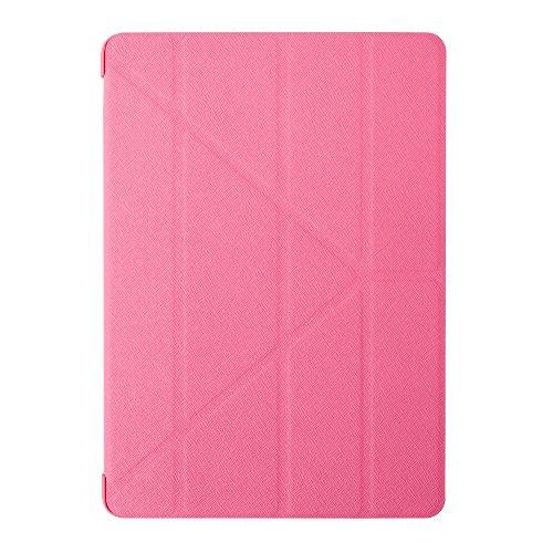 Preisvergleich Produktbild Ozaki O!Coat Slim-Y Versatile 360 Grad faltbare Tasche mit patentierter Standtechnik und On / Off Funktion für Apple iPad Air 2 pink