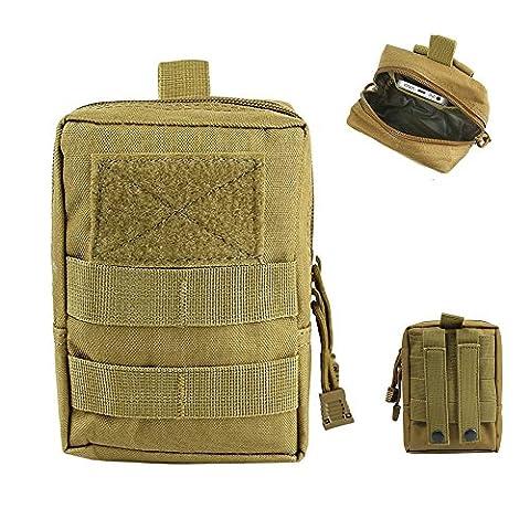 Airsson Taktische Molle Pouch Utility Medizinische Erste-Hilfe-Tasche Holster Holder Military Gadget Taille Tasche 1000D Nylon (5 Attach Fall)