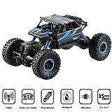 H&B HB HB-P1802 2,4 GHz 4WD Rock Crawler RC Car Geländewagen Auto, 1:18 Fernbedienung Monster Truck/Off Road Fahrzeug (Blau)