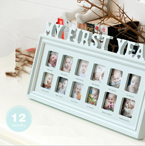 My First Year 12 Month Baby Picture Photo Frame - Capture Birth to ...