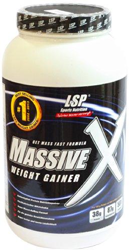 LSP Massive X Schoko, 1er Pack (1 x 1.2 kg) - Massive Weight Gainer