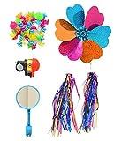 1SET(5PCS) Kids' Bicycle Accessories-Children's Bike Handlebar Streamers Sparkle Tassel Ribbon/Flower Pinwheel/Bicycle Wheel Stars