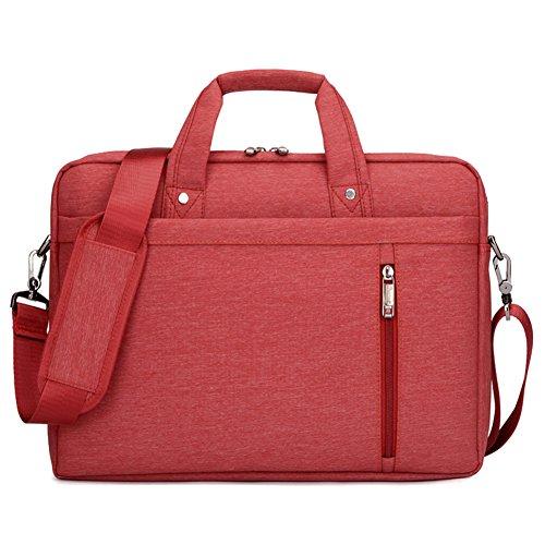 Lemberg) wasserabweisend 38,1cm Business Notebook shoudlder Tasche Messenger Umhängetasche Aktentasche violett violett rot