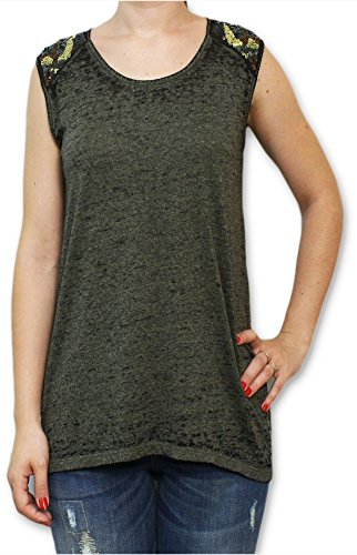 Guess W52P25 K3Q30 LEONU KNIT TOP H699 t-shirt verde