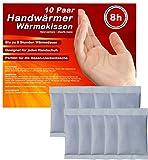 M&H-24 Handwärmer Wärmekissen Taschenwärmer, 8 Stunden warme Finger Hände und Handschuhe Wärme von 55°C, Maße: 5,5cm x 9cm, 5 Paar