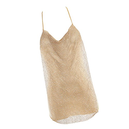 lletten Ärmelloses Tanzkleid 1920er Jahre Kostüm Kleid Mode Schmuck - Geschenk - Gold (P Körper Kostüm)