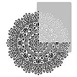 Wiederverwendbare Wandschablone aus Kunststoff // Durchmesser 120cm // Geometrisch - Mandala #1 - Blume // Muster Schablone Vorlage