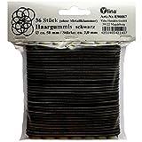 36 Haargummis dünn, schwarz, d. 50mm