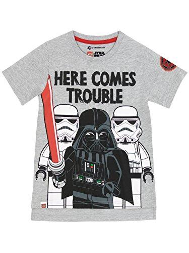 Lego Star Wars Jungen Star Wars Darth Vader T-Shirt Size 134 cm (Graues Liebe, T-shirt)