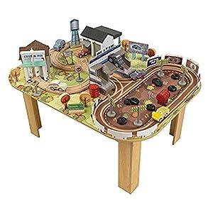 KidKraft 17209 Disney® Pixar Cars 3 Juego de circuito y tablero de madera Thomasville con 73 piezas de juego incluidas