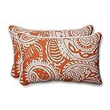 Pillow Perfect Addie Terra Cotta Überwurfkissen, rechteckig, Orange
