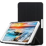iHarbort Samsung Galaxy Tab A 7.0 Coque Étui Housse SM-T280 T285 - Ultra Slim étui Housse Cuir Coque Avec Support Cover Case Pochette Stand, Noir II