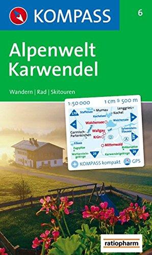 Alpenwelt Karwendel: Walchensee, Wallgau, Krün. Wander-, Bike- und Skitourenkarte. GPS-genau. 1:50.000