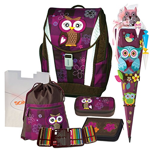 Preisvergleich Produktbild Olivia the Owl Eule Schulranzen Set TOOLBAG SOFT Schneiders u. Federmappe Schultüte 6tlg. - 78405-051