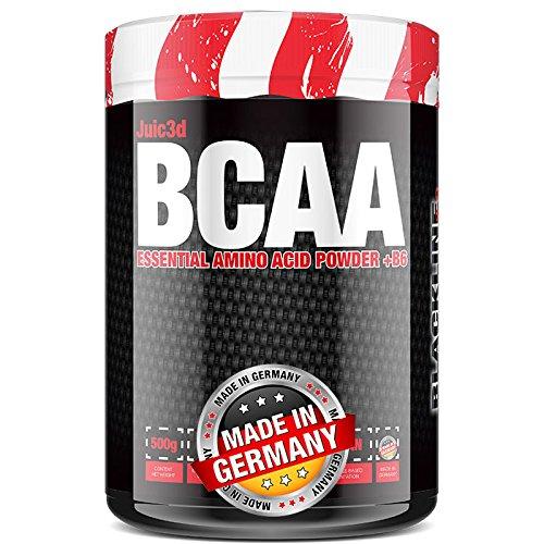 BlackLine 2.0 Juic3d BCAA - Instant Aminosäure Pulver. Vegan, Vitamin B6, Aminos 2:1:1 Leucin, Isoleucin, Valin. 1 x 500g (Eistee Zitrone) - 7