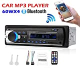 HKANG® Autoradio Bluetooth, Manos Libres Estéreo De Coche, Apoyo De Reproductor MP3, Llamadas Manos Libres, Función de Radio, Con Mando a Distancia