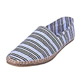 Nonch Le Espadrilles Collection White and Black Strips Shoes