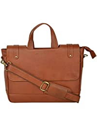 Leather Laptop Bags For Man And Woman 15.6 Inch,OfficePure Leather Laptop Messanger Bag By AIROCRATE - B0762RVB52