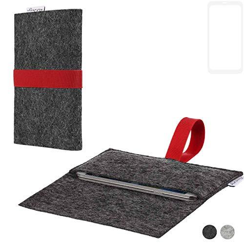 flat.design Handy Hülle Aveiro für Vestel V3 5580 Dual-SIM passgenaue Filz Tasche Case Sleeve Made in Germany